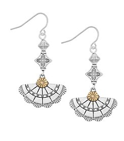 The Sak® Triple Concho Drop Earrings