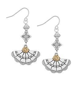 The Sak® Triple Concho Drop Earrings