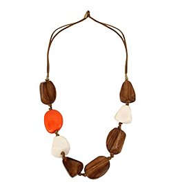 Robert Lee Morris Soho™ Mixed Beaded Suede Station Necklace