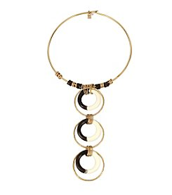 Robert Lee Morris Soho™ Multi Circle Frontal Wire Collar Necklace