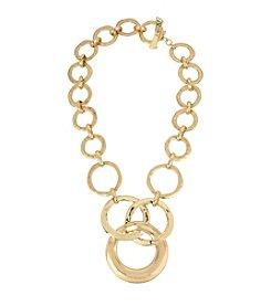 Robert Lee Morris Soho® Hammered Texture Circle Link Necklace