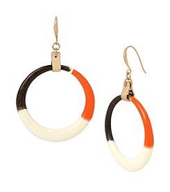 Robert Lee Morris Soho™ Color Blocked Hoop Earrings