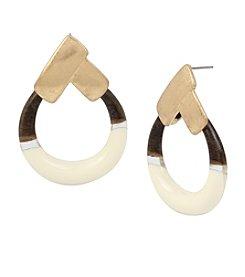 Robert Lee Morris Soho™ Geometric Round Drop Earrings