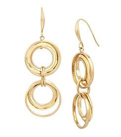 Robert Lee Morris Soho™ Multi Circle Double Drop Earrings