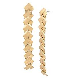 Robert Lee Morris Soho Geometric Rectangle Linear Earrings