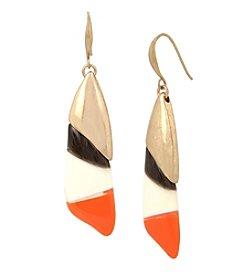 Robert Lee Morris Soho® Color Blocked Sculptural Drop Earrings