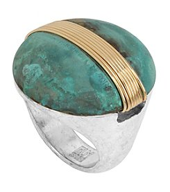 Robert Lee Morris Soho™ Wire Wrapped Patina Round Ring