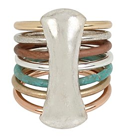 Robert Lee Morris Soho™ Sculptural Mixed Multi Row Ring