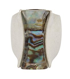 Robert Lee Morris Soho® Simualted Abalone Stone Sculptural Ring