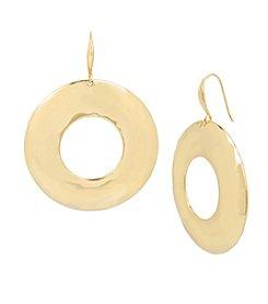 Robert Lee Morris Soho™ Hammered Texture Sculptural Hoop Earrings