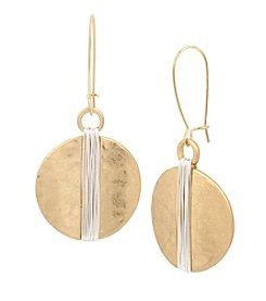 Robert Lee Morris Soho™ Wire Wrapped Circle Drop Earrings