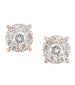 Effy® 14K Rose Gold Diamond Earrings