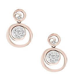 Effy® 14K Rose Gold  .44 ct. t.w. Diamond Earrings
