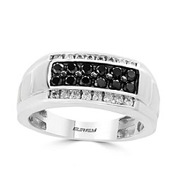 Effy® 14K White Gold White And Black Diamond Ring