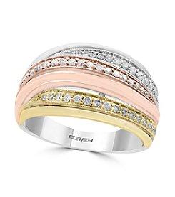 Effy® Tri Tone 14K Gold 0.41 ct. t.w. Diamond Ring