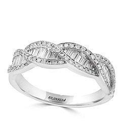 Effy® 14K White Gold 0.89 ct. t.w. Diamond Ring