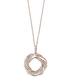 Effy® 14K Rose Gold .58 ct. t.w. Diamond Pendant