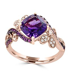 Effy® 14K Rose Gold Diamond, Amethyst And Pink Sapphire Ring