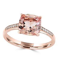 Effy® 14K Rose Gold 0.06 ct. t.w. Diamond And Morganite Ring