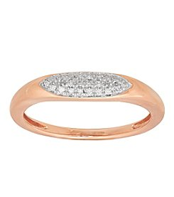 10K Rose Gold 0.06 Ct. T.W. Diamond Ring