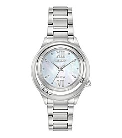 Citizen® Women's Eco-Drive Sunrise Diamond Accent Stainless Steel Watch