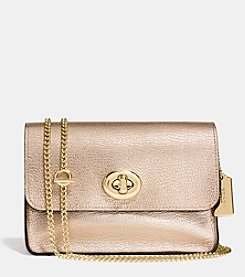 COACH TURNLOCK CHAIN CROSSBODY IN REFINED CALF LEATHER