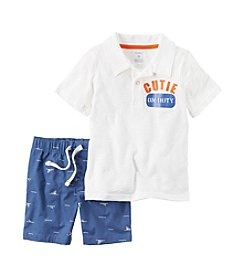 Carter's® Boys' 2T-4T 2-Piece Polo & Shorts Set