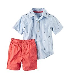 Carter's® Boys' 2T-4T 2-Piece Polo & Canvas Short Set