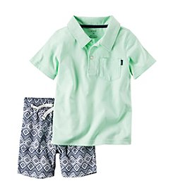 Carter's® Boys' 2T-7 2-Piece Polo & Canvas Short Set