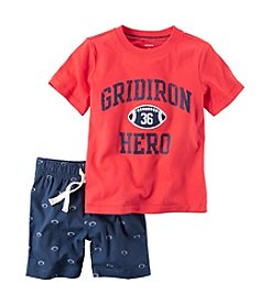Carter's® Boys' 2T-4T 2-Piece Graphic Tee & Canvas Short Set