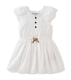 Calvin Klein Jeans Girls' 2T-6X Eyelet Poplin Dress