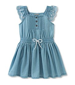 Calvin Klein Jeans Girls' 2T-6X Flutter Sleeve Dress