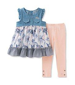 Calvin Klein Girls' 2T-6X 2-Piece Tunic & Leggings Set