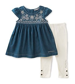 Calvin Klein Jeans Girls' 2T-6X 2-Piece Tunic & Leggings Set