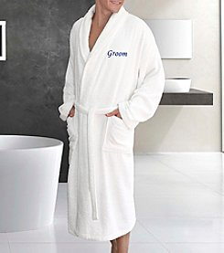 Linum Terry Bathrobe Groom Embroidery