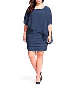 Adrianna Papell® Plus Size Chiffon Drape Dress
