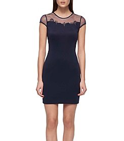 GUESS Illusion Sheath Dress