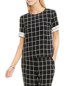 Vince Camuto® Windowpane Blouse