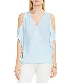 Vince Camuto® Wrap Front Cold Shoulder Blouse