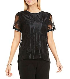 Vince Camuto® Mesh Shell Top
