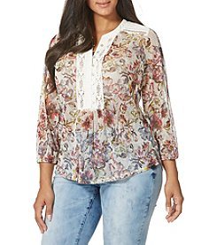 Vintage America Blues™ Plus Size Novelty Print Top
