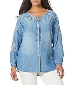 Vintage America Blues™ Plus Size Embroidered Blouse