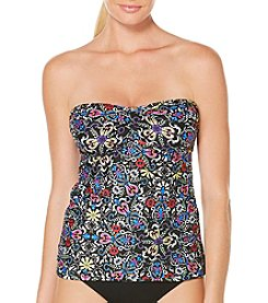 Coastal Zone® Twist Bandeau Tankini
