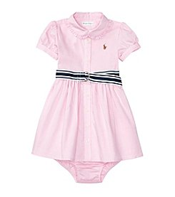 Ralph Lauren® Baby Girls' Pleated Front Dress
