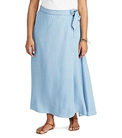 Chaps® Plus Size Wrap Maxi Skirt