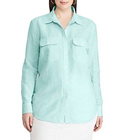 Chaps® Plus Size Linen-Cotton Workshirt