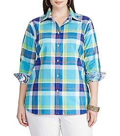 Chaps® Plus Size Plaid Broadcloth Shirt