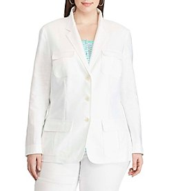 Chaps® Plus Size Two-Button Twill Blazer