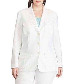 Chaps® Plus Size Two-Button Twill Blazer