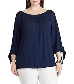 Chaps® Plus Size Off Shoulder Top
